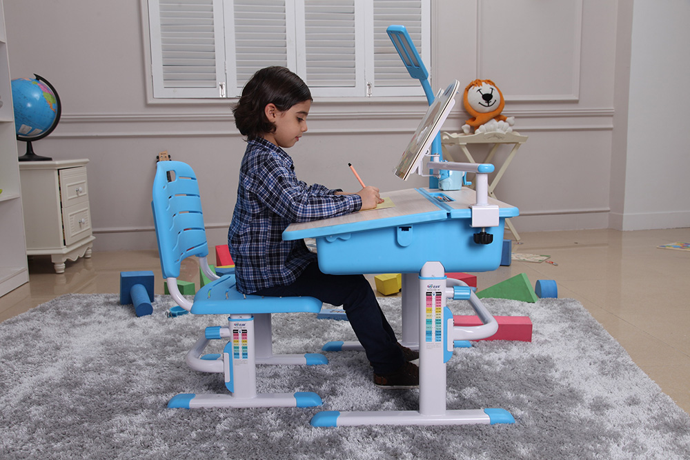 Bộ Bàn Học Thông Minh Best Desk Maxi – Xanh Da Trời