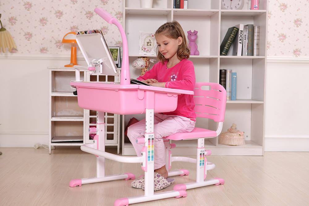Bộ Bàn Học Thông Minh Best Desk Maxi – Hồng