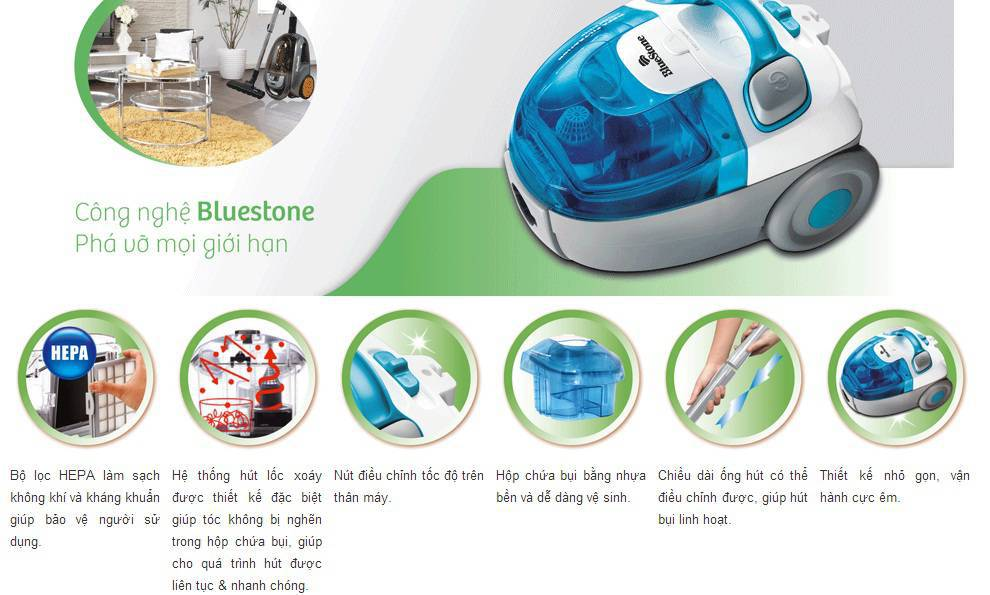 Máy Hút Bụi Bluestone VCB-8037