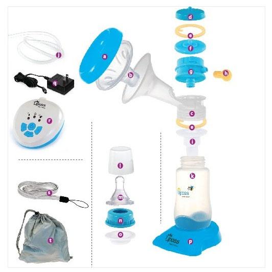 Máy Hút Sữa Tay Bằng Điện 2 Giai Đoạn Có Mát Xa Silicone Upass UP1642