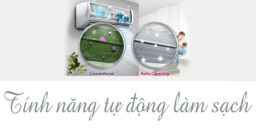 Máy Lạnh Inverter LG V10END – 1 HP – Trắng