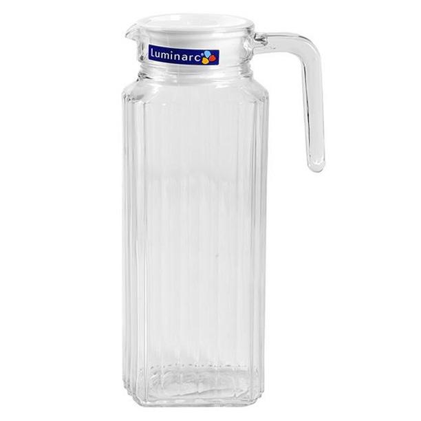 Bình Nước Thủy Tinh Luminarc Quadro 53808 – 1.3 Lít