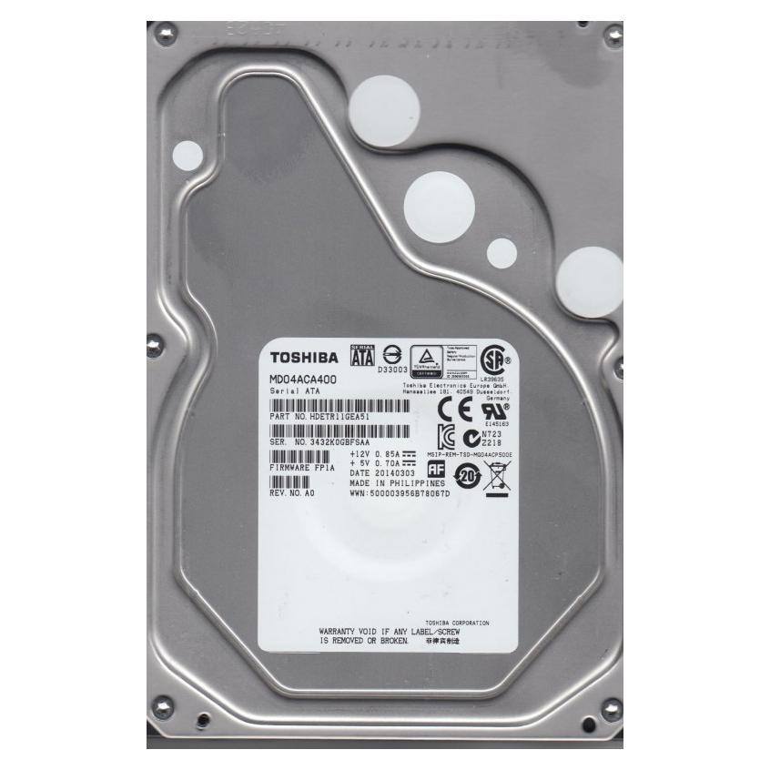 """Ổ Cứng Trong PC Toshiba 4TB - 3.5""""/SATA3/7200rpm/64MB"""