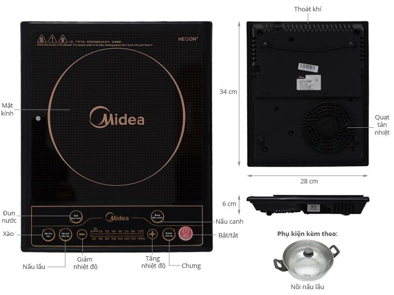 Bếp Điện Từ MIDEA SV19EH - Hàng chính hãng