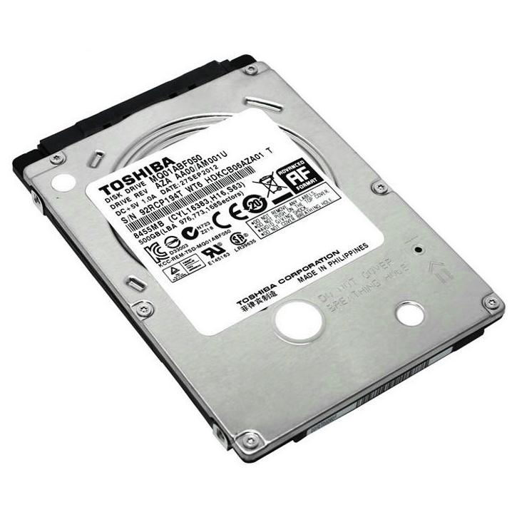 """Ổ Cứng Trong Laptop Toshiba 500GB - 2.5""""/5400rpm/SATA3/8MB/7mm"""