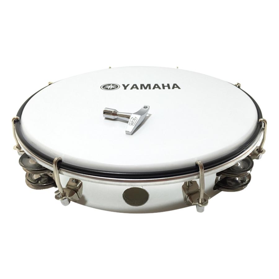 Trống Lắc Tay - Lục Lạc Gõ Bo Tambourine Yamaha MT6-102A - Trắng