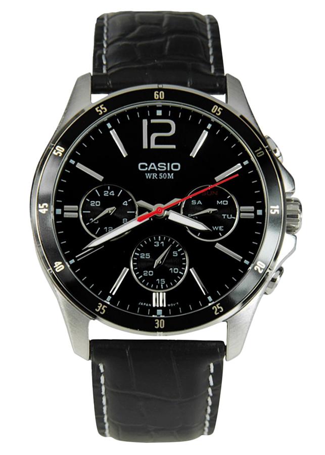 Đồng Hồ Nam Dây Da Casio MTP-1374L-1AVDF (43.5mm) - Đen