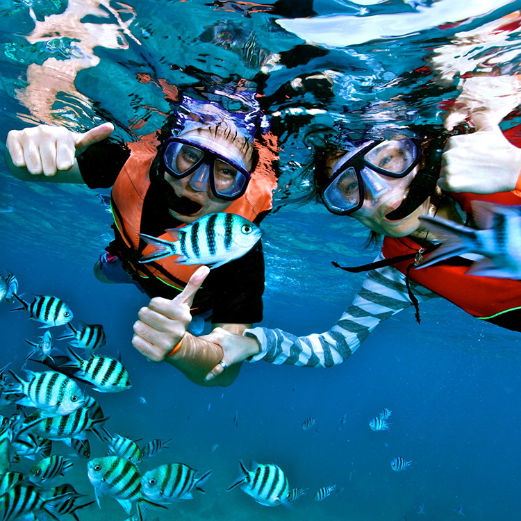 Mặt Nạ Lặn Ống Thở, Cận 7.0 Độ, Mắt Kính Cường Lực, Ống Thở Ngăn Nước POPO Sports Myopia-Mask-Set-7.0