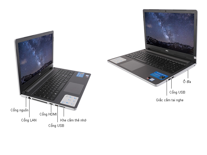 Laptop Dell Inspiron N5559 M5I5452W
