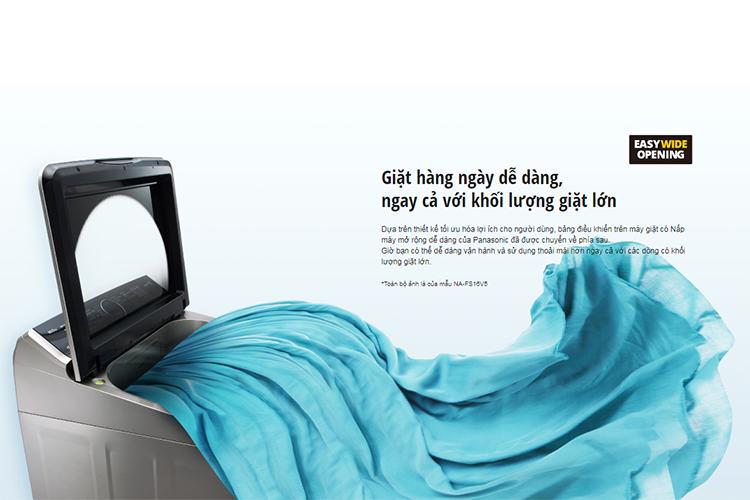 Máy Giặt Cửa Trên Panasonic NA-F100X5LRV (10kg) - Bạc