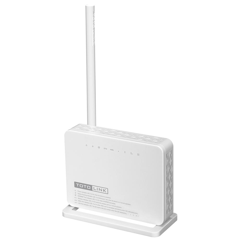 TotoLink ND150 - Bộ phát Wifi ADSL2/2+ chuẩn N tốc độ 150Mbps Mở rộng sóng