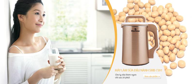Máy Làm Sữa Đậu Nành BLUESTONE SMB-7391 - Vàng Đồng