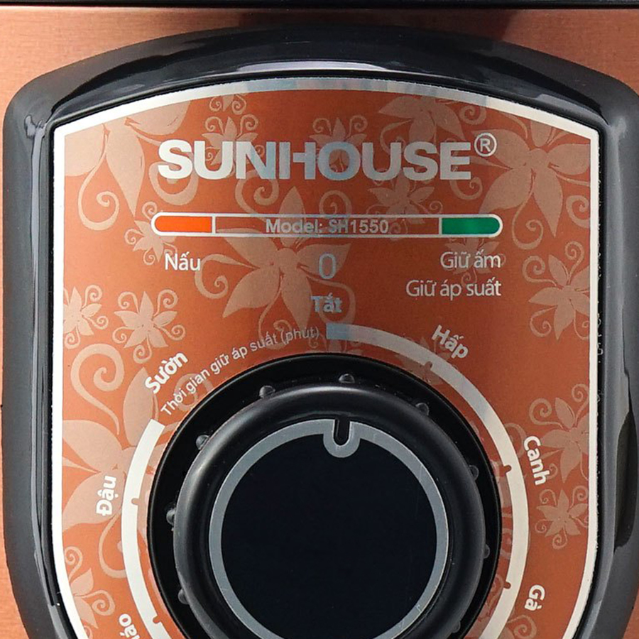 Nồi Áp Suất Điện Đa Năng Sunhouse SH1550 (5L) - Nâu - Hàng chính hãng
