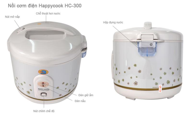 Nồi Cơm Điện HappyCook HC-300- 3 Lít - Hàng chính hãng