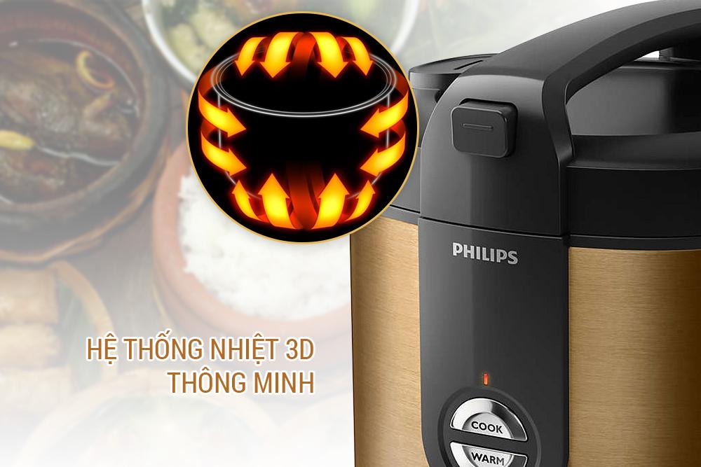 Nồi Cơm Điện Philips HD3128/68 (2L) - Màu Đồng
