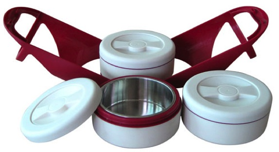 Hộp Đựng Cơm Giữ Nhiệt 3 Ngăn Homemax HMCM-TLB-3