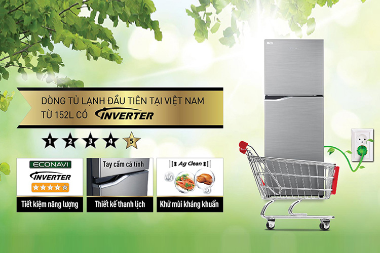 Tủ Lạnh Inverter Panasonic NR-BA178PSVN (152L)