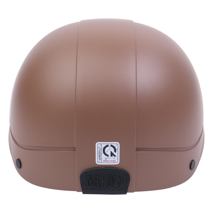 Mũ Bảo Hiểm 1/2 Đầu Napoli NS-N088-BROWN - Nâu