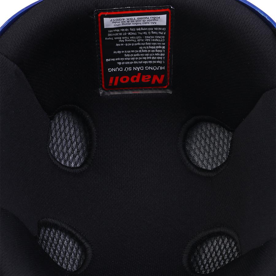 Mũ Bảo Hiểm 1/2 Đầu Napoli NS-N088-BLUE - Xanh Dương