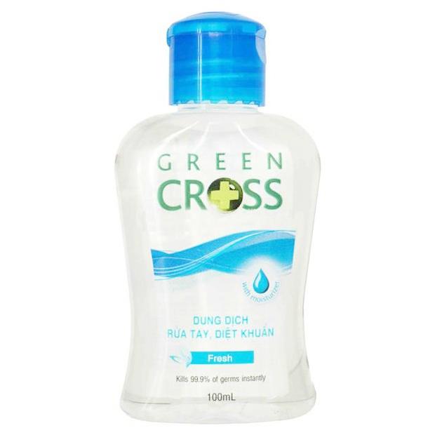 Nước Rửa Tay Green Cross Hương Tươi Mát Chai 100ml