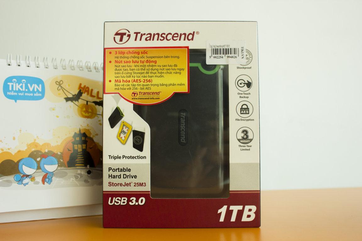 Hộp đựng ổ cứng Transcend Storejet M3 dung lượng 1TB