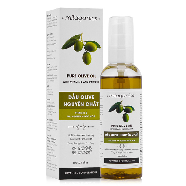 Dầu Olive Nguyên Chất Milaganics (100ml)