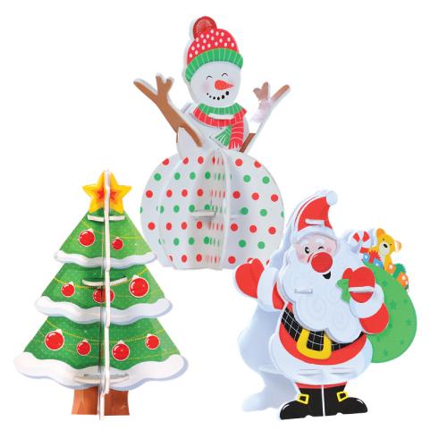 Mô Hình Lắp Ráp 3D Giáng Sinh Kibu MH12 - Ông Già Noel Với Túi Quà