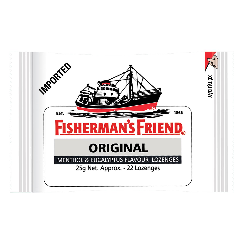 Kẹo Cay Con tàu Fisherman's Friend Vị Khuynh Diệp Gói 25g