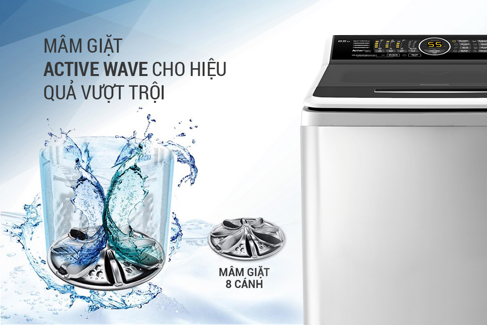 Máy Giặt Cửa Trên Panasonic NA-F85A4HRV (8.5kg) - Xám Nhạt
