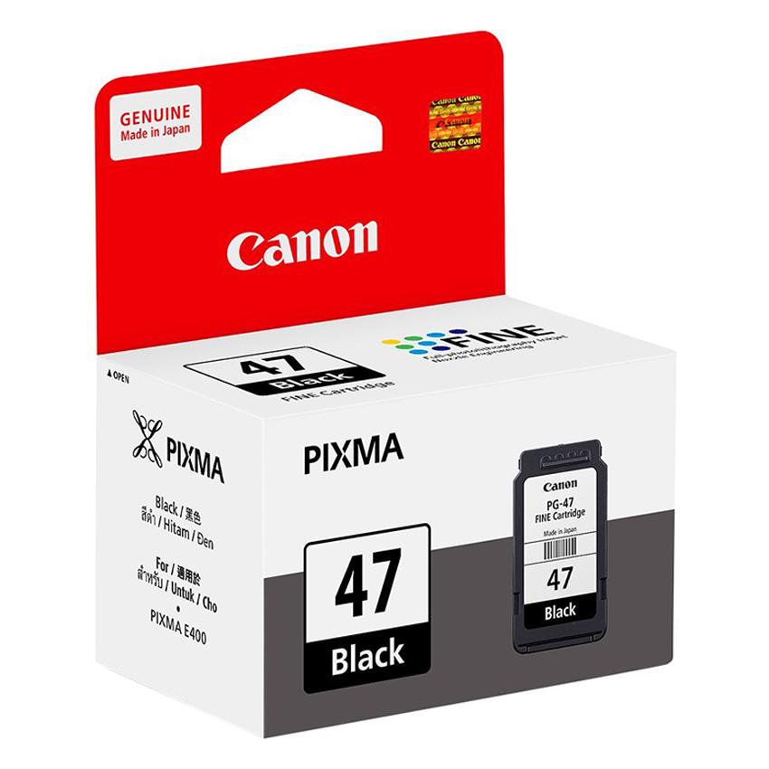 Mực In Canon PG-47 Cho Máy In Canon Pixma E400, E410, E460, E480 - Hàng Chính Hãng