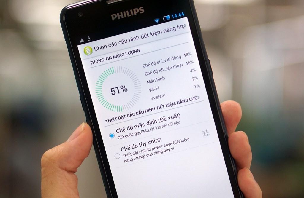 Tùy chỉnh chế độ tiết kiệm pin trên Philips W6610