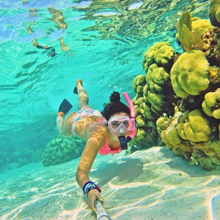 Kính Lặn, Mặt Nạ Lặn Biển Mắt Kính Cường Lực Cao Cấp POPO Sports NormalMask-Pink - Hồng