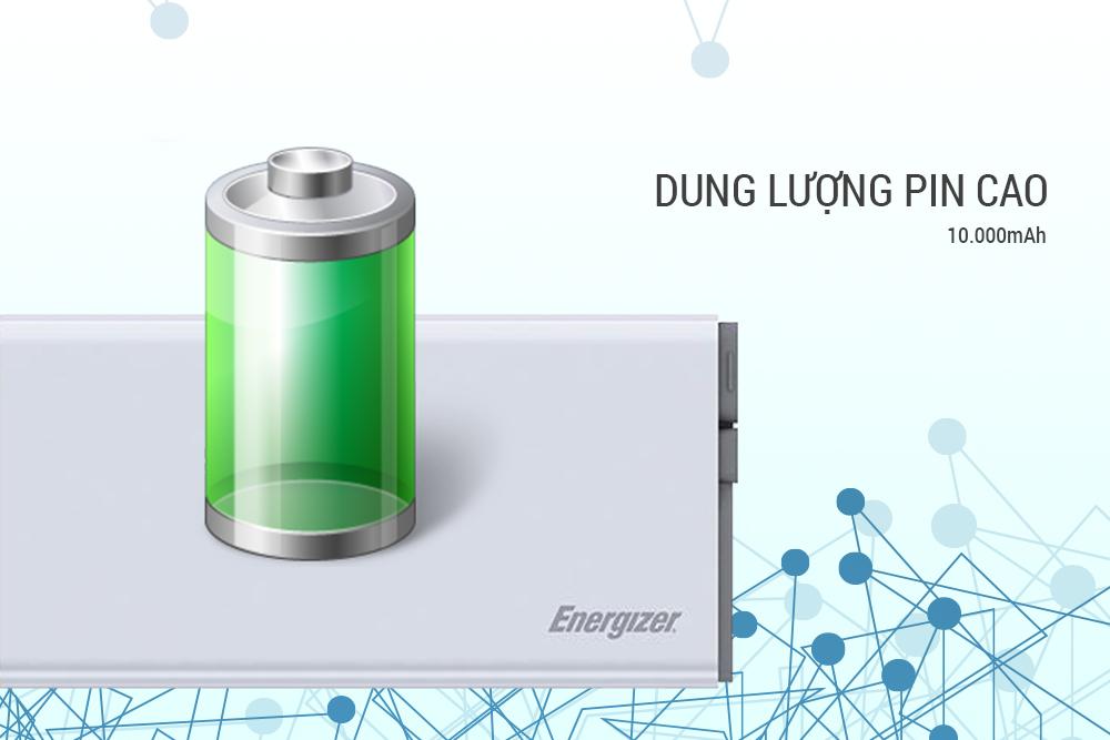 Pin Sạc Dự Phòng Energizer UE10004QC QC 3.0 - 10.000mAh - Hàng Chính Hãng