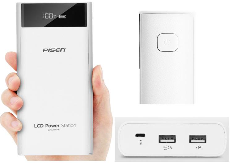 Pin Sạc Dự Phòng Pisen Power Station LCD 20000mAh