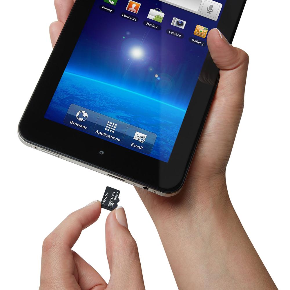 Thẻ Nhớ PNY Micro SDHC Class 10 - U1 64GB Up To 40mb/s + Adapter