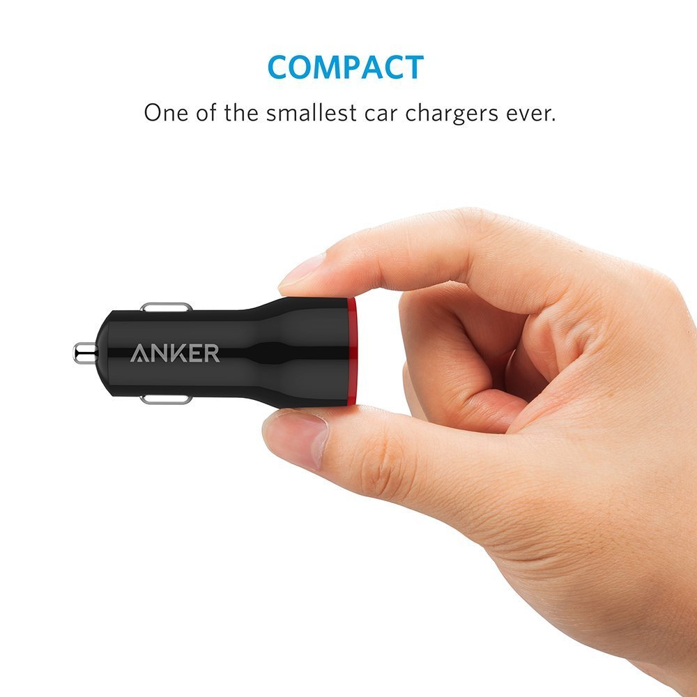 Sạc Xe Hơi Anker PowerDrive 2 24W 2 Cổng USB