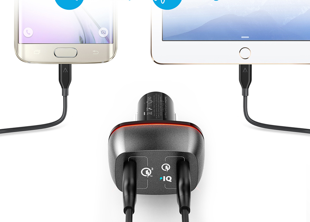Sạc Xe Hơi Anker PowerDrive+ 2 42W QuickCharge 3.0