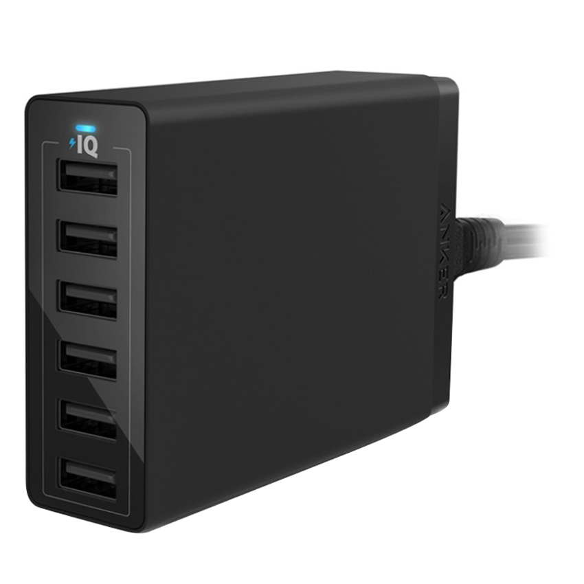 Adapter Anker 6 Cổng PowerPort 6 60W QuickCharge 2.0