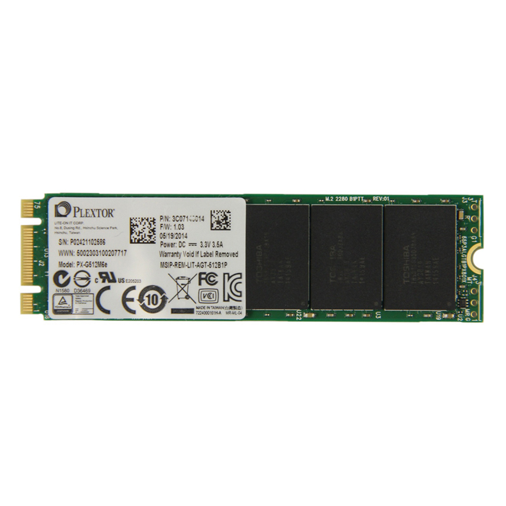 Ổ Cứng SSD Plextor M6e 512GB - PX-G512M6EA - Hàng chính hãng