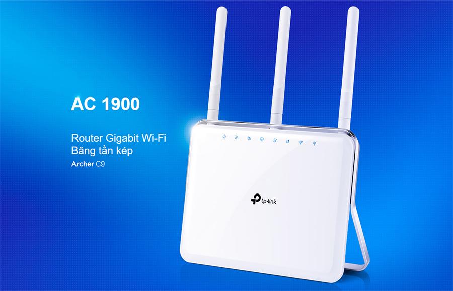 Router Wi-Fi Băng tần kép AC1900 Archer C9 - Hàng Chính Hãng