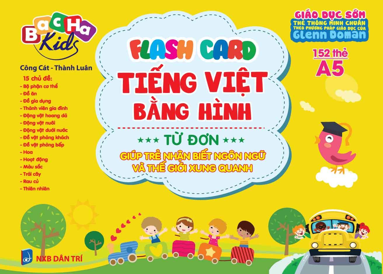 Flashcard Dạy Trẻ Theo Phương Pháp Glenn Doman - Tiếng Việt Bằng Hình - Từ Đơn