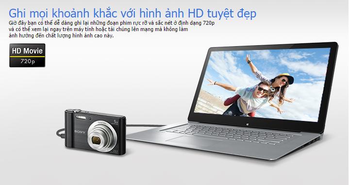 Hỗ trợ quay film HD sắc nét