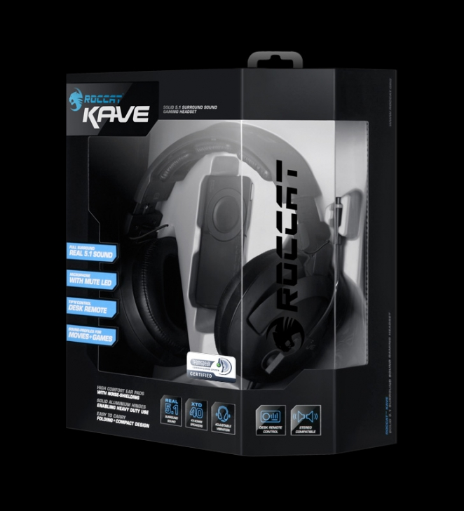 Tai Nghe Roccat Kave – Solid 5.1 Surround Sound Gaming