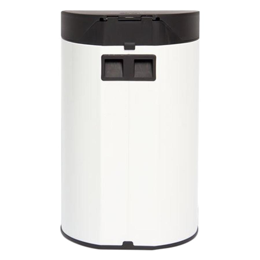 Thùng rác inox FITIS đạp tròn nhỏ RPS1-904 - trắng - 12L