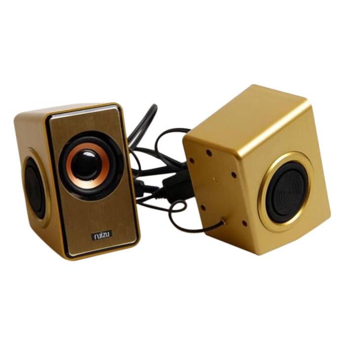 Loa Vi Tính 2.0 Ruizu RS-320 (Gold) - Hàng nhập khẩu