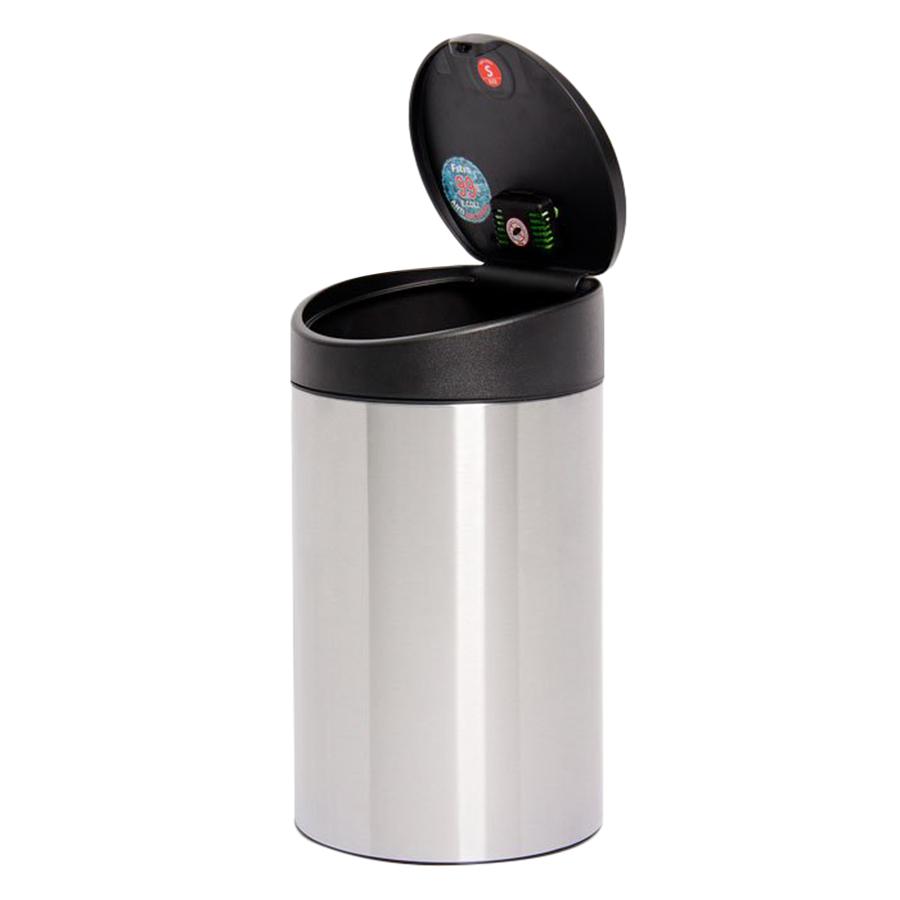 Thùng rác inox FITIS nhấn tròn nhỏ RTS1-901 - inox - 12L