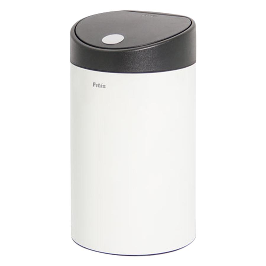 Thùng rác inox FITIS nhấn tròn nhỏ RTS1-904 - trắng - 12L