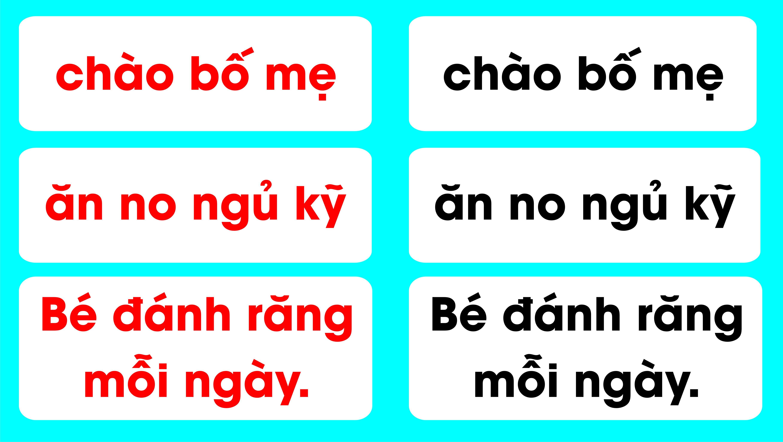 Flash Card Tiếng Việt - Cụm Từ và Câu