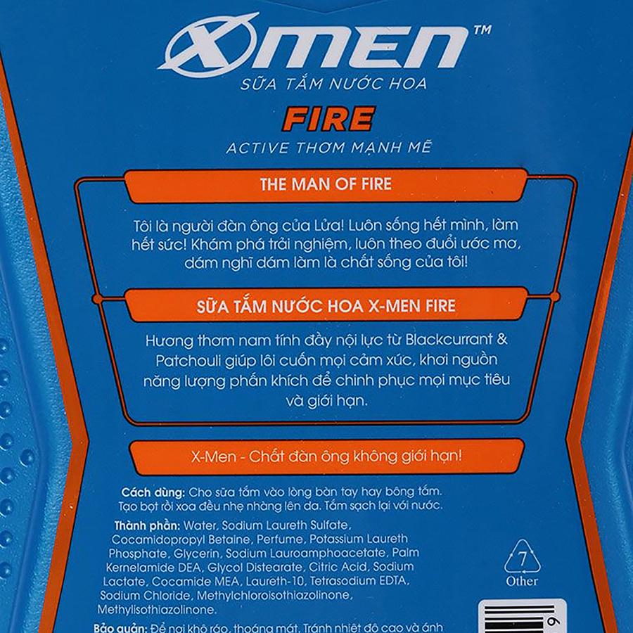Sữa Tắm Nước Hoa X-Men Fire (650g)