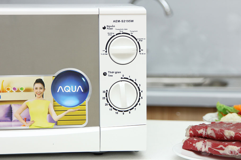 Lò Vi Sóng Aqua AEM-S2195W - 19L (Trắng)
